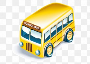 Vector Bus - School Icon PNG