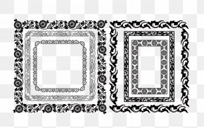Vector Ice Border - Picture Frame Ornament Decorative Arts PNG