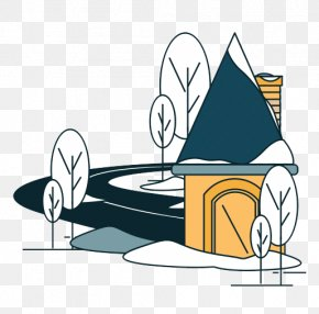 Cartoon Snow House House - House Clip Art PNG