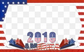 Flag Text - Fourth Of July Background PNG