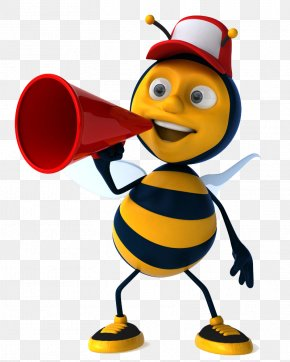 The Microphone Bee - School Writing Learning Clip Art PNG