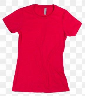 Printed T Shirt Red - T-shirt Top Hoodie Sleeve Polo Shirt PNG