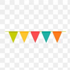 Birthday Party Celebration Flag Vector - Adobe Illustrator PNG