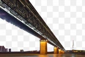 Wuhan Yangtze River Bridge Night - Wuhan Yangtze River Bridge National Central City Central China PNG