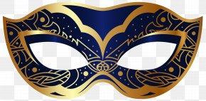 Dark Blue Carnival Mask Clip Art Image - Carnival Of Venice Mask Mardi Gras Clip Art PNG