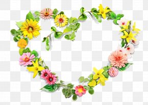 Wildflower Wreath - Floral Spring Flowers PNG
