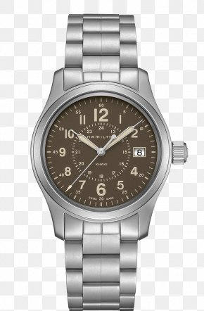 Hamilton Watch Silver Coffee Color Male Watch - Hamilton Watch Company Quartz Clock Chronograph PNG