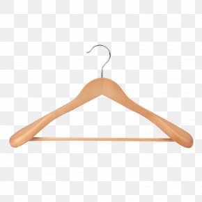 Solid Wood Yellow Clothes Hanger Support - Clothes Hanger Clothing PNG