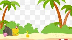 Cartoon Beach - Beach Cartoon Sand PNG