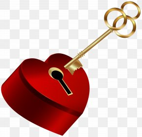 Heart With Key Clip Art Image - Heart Clip Art PNG
