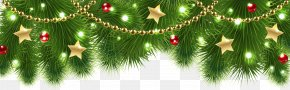 Christmas Pine Decor Clip Art Image - Christmas Decoration Christmas Tree Clip Art PNG