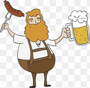 An Uncle Who Drinks And Eats Meat - Lager Beer Oktoberfest German Cuisine Clip Art PNG