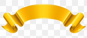 Gold Banner Clipart Picture - Ribbon Gold Clip Art PNG