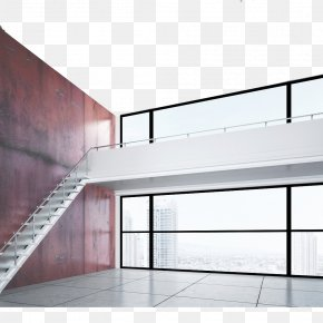 Interior Design Characteristic Staircase Effect Diagram - Loft Stairs Interior Design Services Architectural Rendering Illustration PNG
