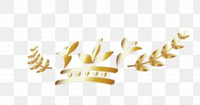 Golden Leaves - Computer Graphics PNG