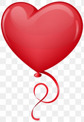 Red Heart Balloon Clip Art Image - Heart Balloon Clip Art PNG