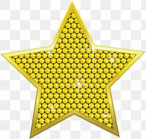 Star - Star Polygon Gold PNG