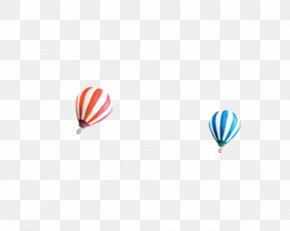 Hot Air Balloon Blue Red Stripe - Microsoft Azure Computer Pattern PNG