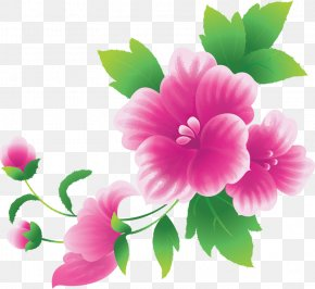 Large Pink Flowers Clipart - Pink Flowers Clip Art PNG