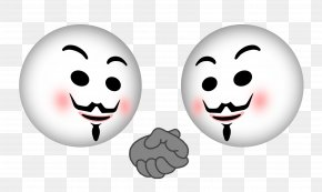 Anonymous Mask - Smiley Facial Expression Emotion Happiness PNG
