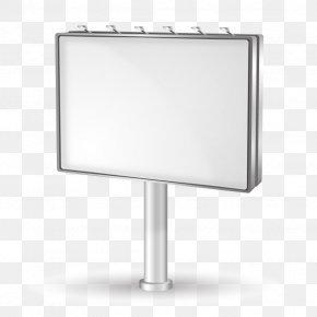 Vector White Billboard - Billboard PNG