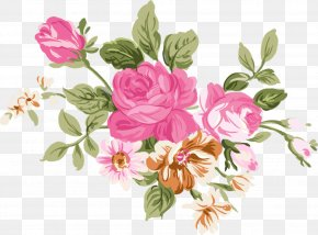 Pastel Flowers - Flower Floral Design Watercolor Painting Drawing Clip Art PNG
