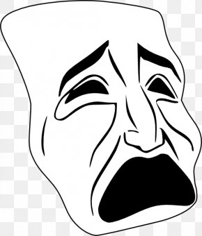 How To Draw Drama Masks - Tragedy Theatre Drama Clip Art PNG