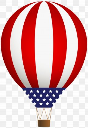 Fourth Of July - Hot Air Balloon Clip Art PNG