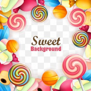 Decorative Candy Promotional Material About The Background - Lollipop Chocolate Bar Candy Sweetness PNG