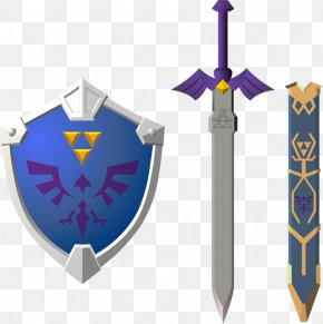 Sword And Shield - Master Sword The Legend Of Zelda: Breath Of The Wild Link The Legend Of Zelda: Ocarina Of Time PNG