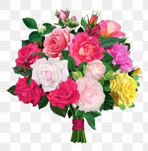 Rose Bouquet Transparent Clipart - Flower Bouquet Rose Clip Art PNG