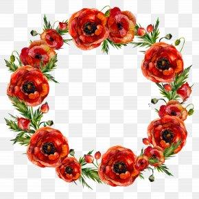 Flower Garlands - Garland Flower Red Wreath PNG