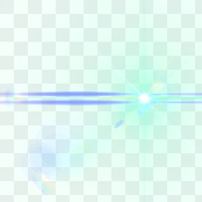 Tech Light Effect - Light Line Blue Point Angle PNG