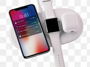 Apple - IPhone X AirPower Battery Charger AirPods Apple Watch Series 3 PNG