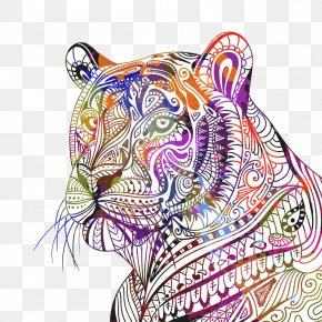 Tiger Pattern - Bengal Tiger Siberian Tiger Drawing Royalty-free PNG