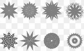 Snowflake - Circle Shape Clip Art PNG