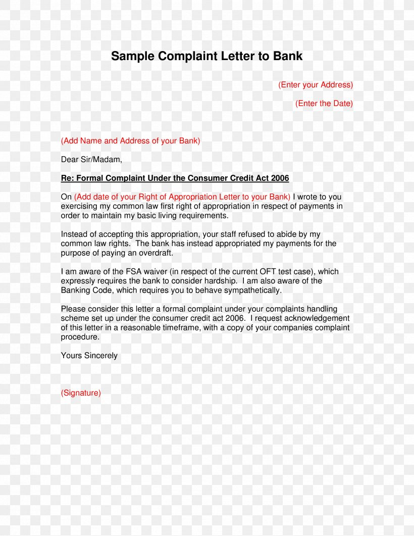 Business Complaint Letter Template from img.favpng.com