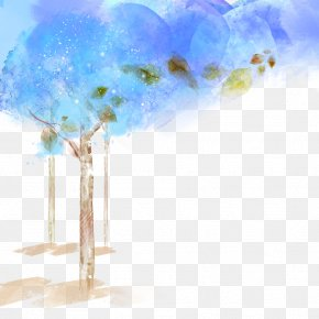 Cartoon Blue Material - Download Blue Wallpaper PNG