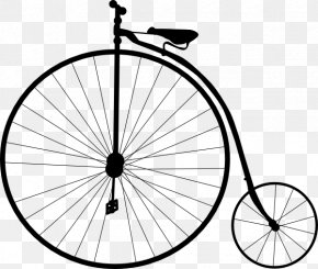 Big Tire Cliparts - History Of The Bicycle Penny-farthing Cycling Clip Art PNG