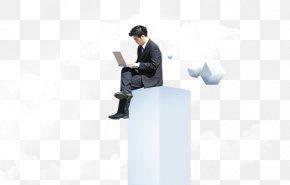 Business Man Sitting - Man Download PNG