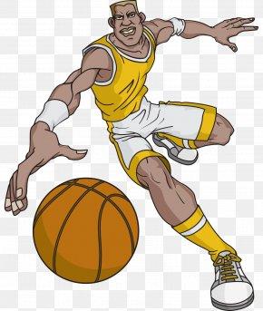 Vector Cartoon Playing Basketball Cartoonist - Cartoon Basketball Character PNG