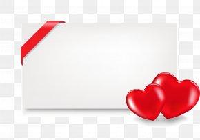Vector Heart-shaped Ribbon Border - Heart Love Euclidean Vector Template PNG