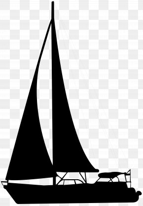 Sailing Boat Silhouette Clip Art - Sailboat Silhouette Clip Art PNG