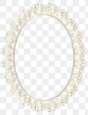 Oval Frame Transparent Clip Art Image - Pattern PNG