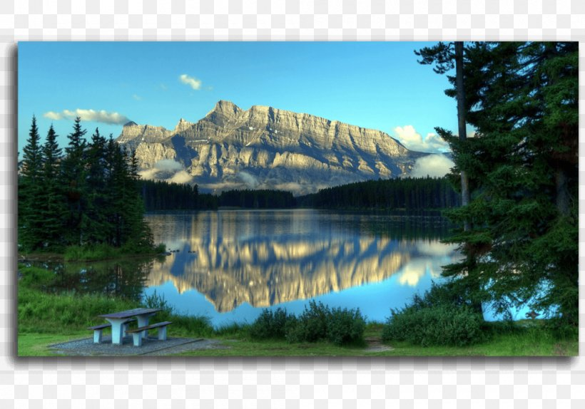 Two Jack Lake Moraine Lake Desktop Wallpaper Asus Rog Strix