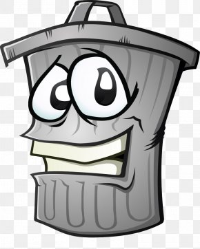 Trash Can - Waste Container Cartoon Clip Art PNG