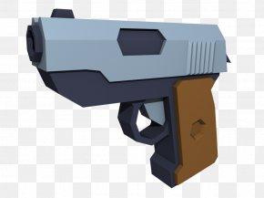 Do Not Enter - Trigger Low Poly Pistol Blender Handgun PNG