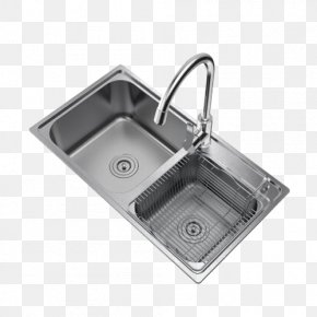 Stainless Steel Kitchen Sink - Kitchen Sink Tap Stainless Steel PNG