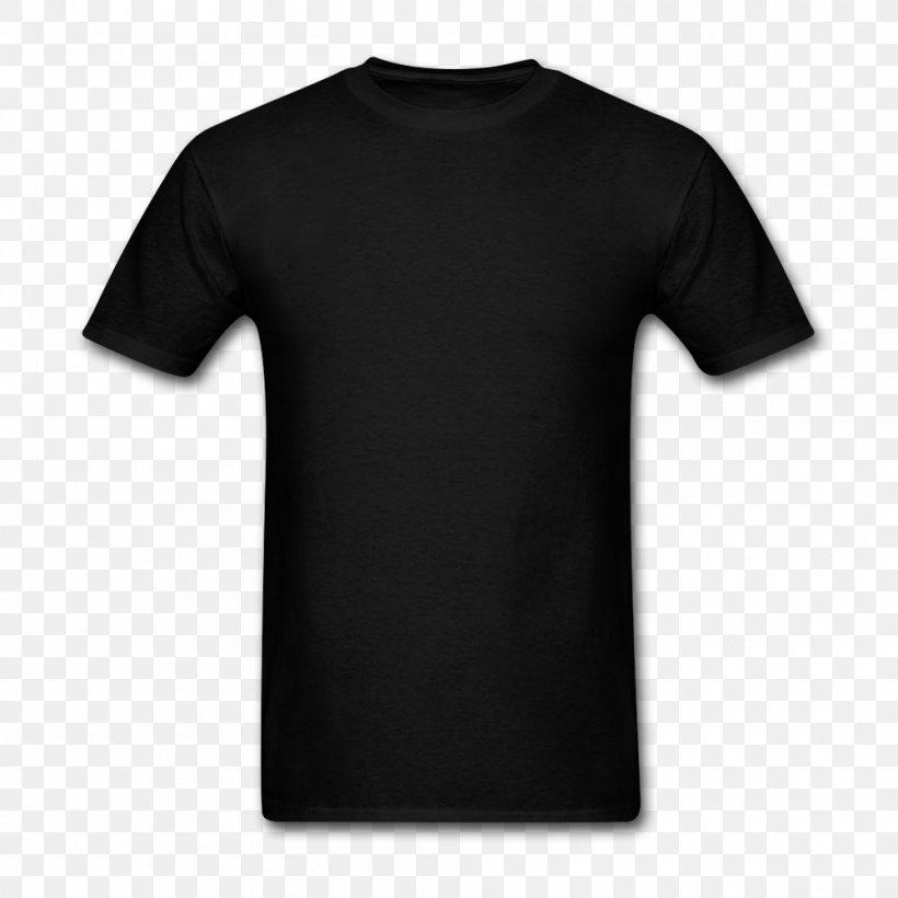 T-shirt Hoodie Neckline Crew Neck, PNG, 1000x1000px, Tshirt, Active Shirt, Black, Brand, Clothing Download Free