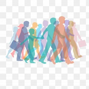 Crowds Of People Silhouette - Crowd People Clip Art PNG